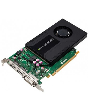 HP Quadro K2000 - 2 GB GDDR5 - PCIe 2.0 x16 - DVI, 2 x DisplayPort