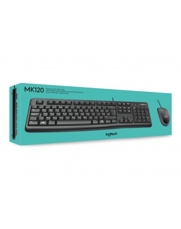 MK120 Keyboard US + Logitech Optical Mouse USB Qwerty