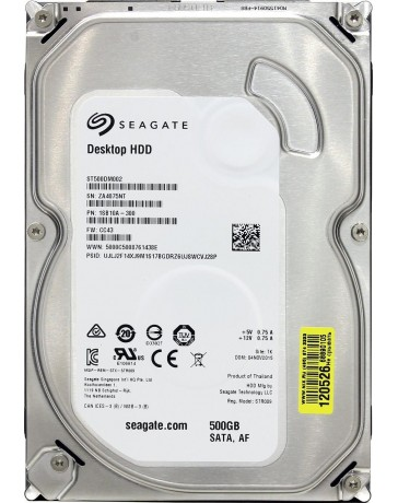 "Seagate ST500DM002 HDD 3.5"" SATA 320GB-600GB 500GB, 3.5"" SATA, 7,200rpm, 16M - Refurbished"