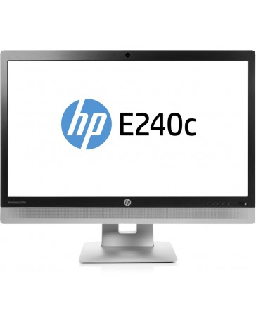 HP EliteDisplay E240c 24 Inch, 1920x1080 (Full HD) Zilver, Zwart