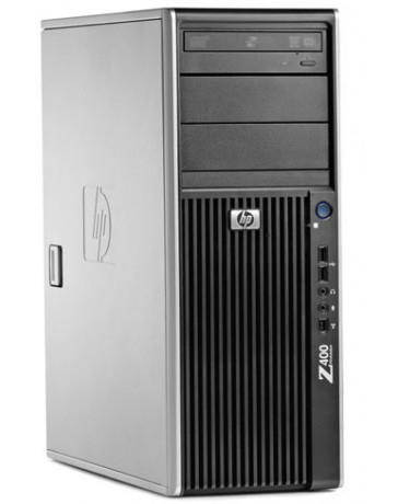HP Z400 Workstation W3550 3.0GHz 8GB DDR3, 128GB SSD +1TB SATA/DVDRW Quadro FX1800, Win 10 Pro